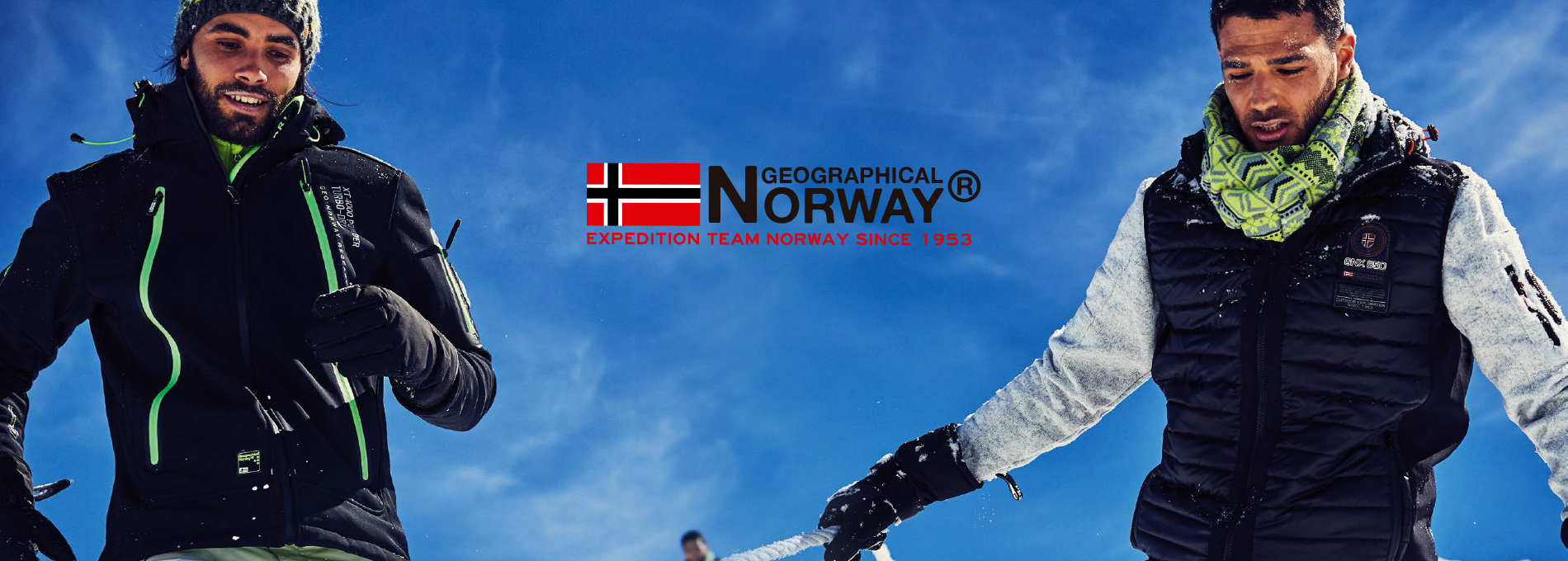Banner Homme Geographical Norway